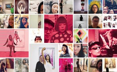 香港式的觀賞藝術品方式,Selfie必不可少